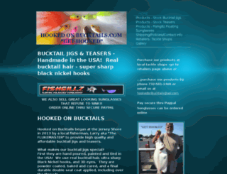 hookedonbucktails.com screenshot