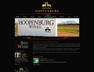 hoopenburgwines.co.za screenshot