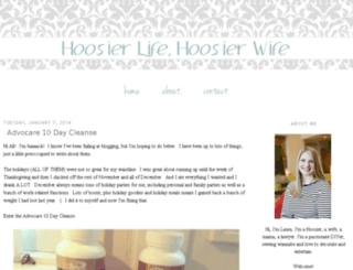 hoosierwife.com screenshot