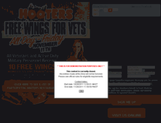 hootersveteransday.com screenshot