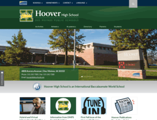 hoover.dmschools.org screenshot