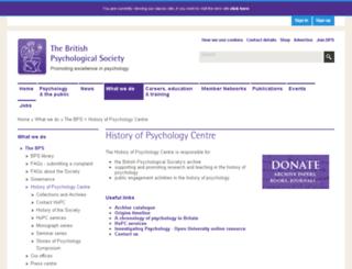 hopc.bps.org.uk screenshot