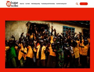 hope-for-children.org screenshot