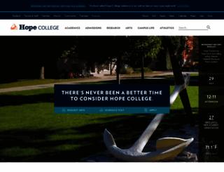 hope.edu screenshot