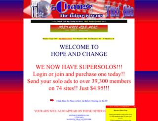 hopeandchange.hugehitexchange.com screenshot