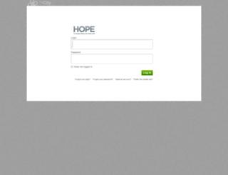 hopecentral.onthecity.org screenshot