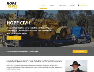 hopecivil.com.au screenshot