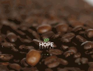 hopecoffee.org screenshot