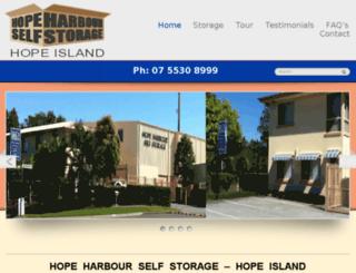 hopeharbourstorage.com screenshot