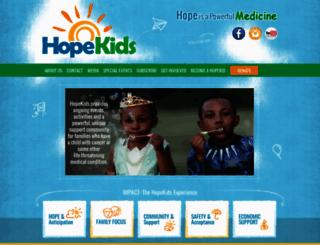 hopekids.org screenshot