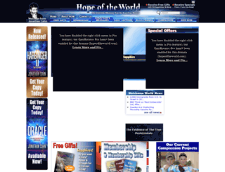 hopeoftheworld.com screenshot