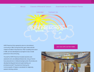 hopepreschool.org screenshot