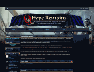 hoperemainsgw2.guildlaunch.com screenshot