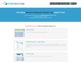 hophaptuongquan.forumvi.com screenshot