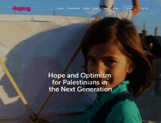 hopingfoundation.org screenshot