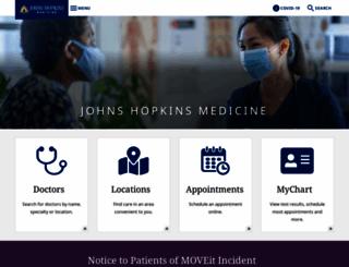 hopkinsmedicine.org screenshot