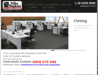 hopkinsofficefurniture.com.au screenshot