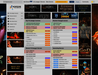 hopzone.net screenshot