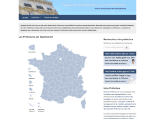 horaires-prefecture.fr screenshot
