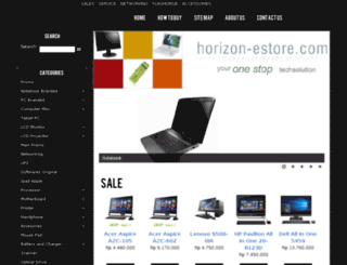 horizon-estore.com screenshot