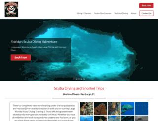 horizondivers.com screenshot