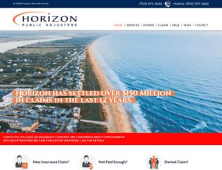 horizonpublicadjusters.com screenshot