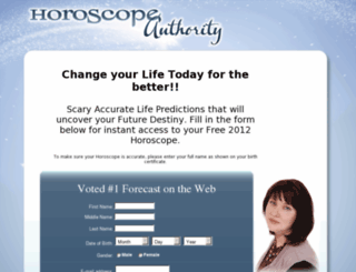 horoscopeauthority.com screenshot