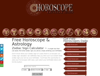 horoscopedaily.info screenshot