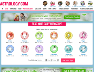horoscopes.astrology.com screenshot