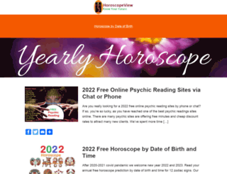 horoscopeview.com screenshot