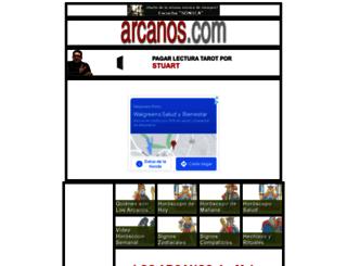 horoscopo-solteros-amor.arcanos.com screenshot
