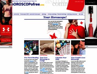 horoscopofree.com screenshot