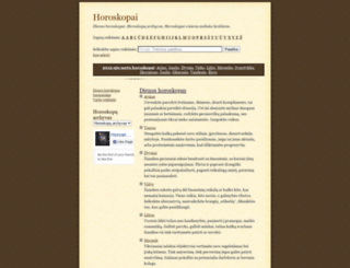 horoskopai.sapnai.info screenshot