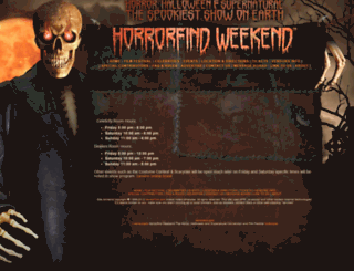 horrorfindweekend.com screenshot