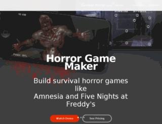 horrorgamemaker.com screenshot
