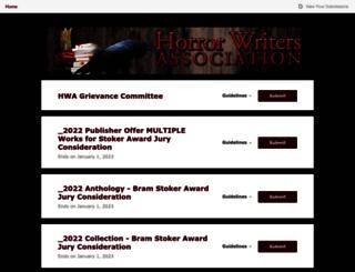horrorwritersassociation.submittable.com screenshot