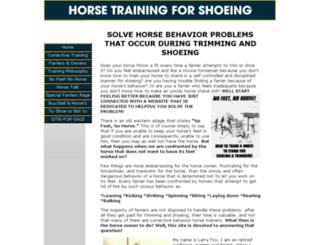 horse-training-for-shoeing.com screenshot