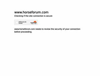 horseforum.com screenshot