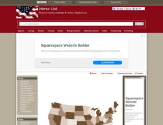 horselist.us screenshot