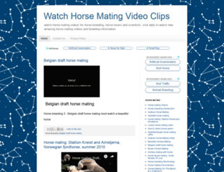 horsematingvideo.blogspot.com screenshot