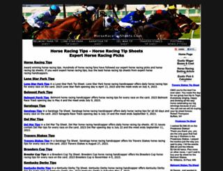 horseracetipsheets.com screenshot