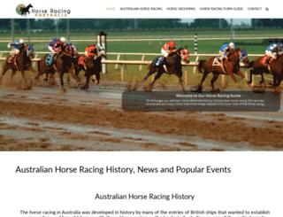 horseracinginaustralia.com screenshot