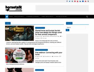 horsetalk.co.nz screenshot