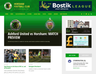 horsham-fc.co.uk screenshot