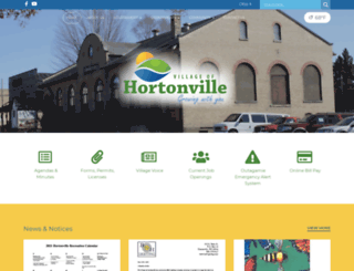 hortonvillewi.org screenshot