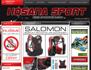 hosanasport.cz screenshot