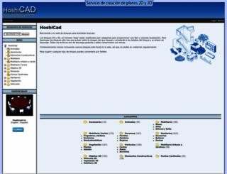 hoshicad.com screenshot