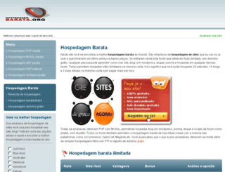 hospedagembarata.org screenshot