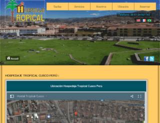 hospedajetropical.com screenshot
