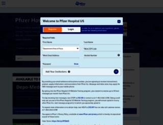 hospira.com screenshot